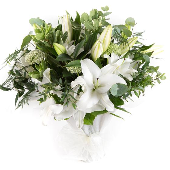 White Lilies and sumptuous foliage